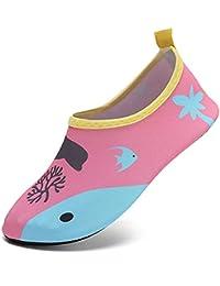SUADEX Niños Niña Zapatos de Agua Descalzo Barefoot Respirable Zapatos de Playa Aire Libre Calcetines de Natación Piscina Surf Yoga