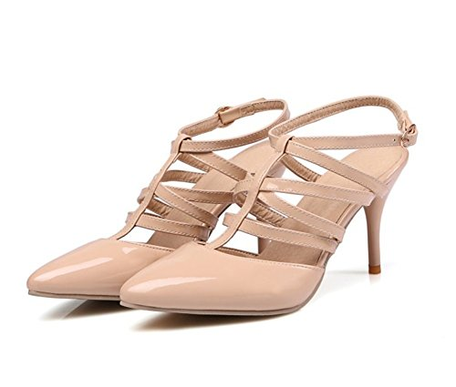 Wealsex damen sandalen elegant stiletto high heels Beige