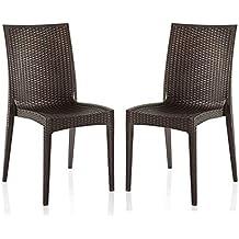 Varmora Designer Club Chair Set of 2 (Brown)