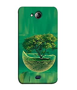 PrintVisa Designer Back Case Cover for Micromax Canvas Play Q355 (Graphic Sand Water Abstract Illustration Leaf Light Summer)