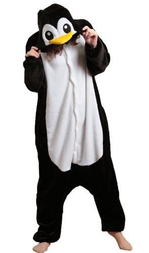 ikneu-sleepsuit-costume-cosplay-homewear-lounge-wear-kigurumi-onesie-pajamas-m-for-height61-65-pengu