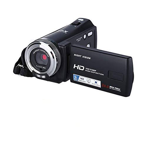 ZAQXSW Kamera-Videokamera-Camcorder-Digitalrekorder, Kimire HD 1080P 24 MP 16X Leistungsstarker Digitalzoom-Camcorder 3,0-Zoll-LCD-Bildschirm mit 270-Grad-Drehanzeige