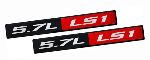 2 x (Pair / Set) RED BLACK 5.7L Liter LS1 Real Aluminum Engine Hood Emblem Badge Nameplate Crate for Pontiac Trans Am Firebird WS6 Chevy Chevrolet Corvette C5 Camaro Z28 SS Super Sport Holden Vehicles Clubsport R8 Grange GTS Maloo Senator Signature 300 Coupe SE LE Avalanche XUV AWD Monaro CV8 VT VX Y Series Elfin MS8 Streamliner Clubman Mosler MT900 98 99 00 01 02 03 04 05 06 07 08 09 10 11 12 13 1998 1999 2000 2001 2002 2003 2004 2005 2006 2007 2008 2009 2010 2011 2012 2013