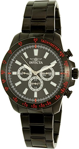 Preisvergleich Produktbild Invicta Men's Speedway 20341SYB Black Stainless-Steel Swiss Quartz Dress Watch