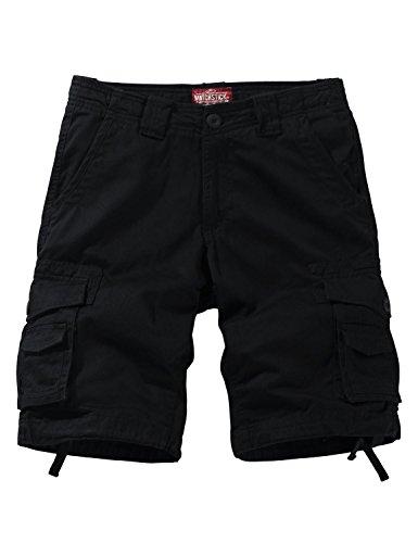 Match uomo pantaloncini cargo #s3612(3056 nero grigio(black gray),m)