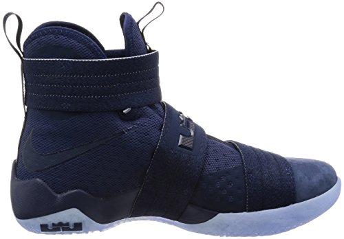 Nike Lebron Soldier 10 Sfg, Scarpe da Basket Uomo Blu marino notte, Blu marino notte