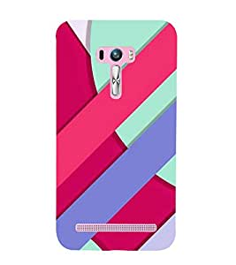 PrintVisa Simple Line Pattern 3D Hard Polycarbonate Designer Back Case Cover for Asus Zenfone Selfie ZD551KL