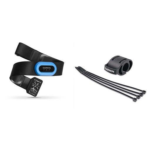 Garmin HRM-Tri Premium HF-Brustgurt (Laufen, Radfahren, Schwimmen) & Garmin Fahrradhalterung für Sportuhren - einfache Montage