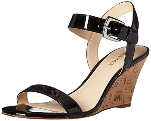Nine West Kiani synthétique Wedge Sandal Black