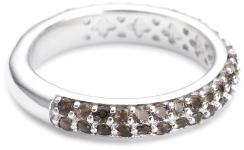 Esprit Damen-Ring 925 Sterling Silber rhodiniert Kristall Zirkonia elegance smoky braun