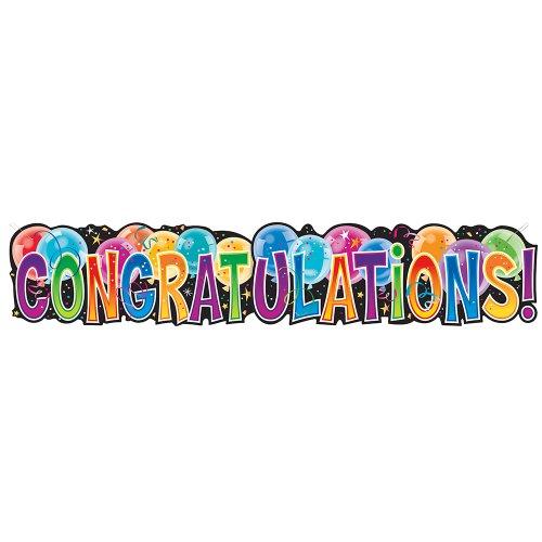 Congratulations Graduation Zusammengefügtes Banner 3 mehrfarbig
