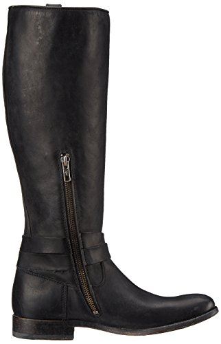 Frye Melissa Knotted Tall Rund Leder Mode-Knie hoch Stiefel Black