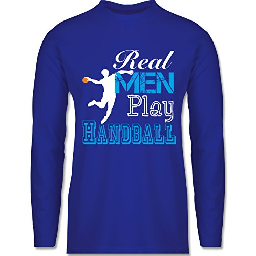 Shirtracer Handball - Real Men Play Handball - Herren Langarmshirt Royalblau