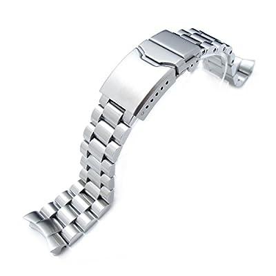 22 mm maciza de acero inoxidable 316L cuidado con novorapid pulsera de reloj de SEIKO SKX007, lo que garantiza un botón