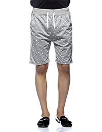 Demokarazy men's Grey printed short