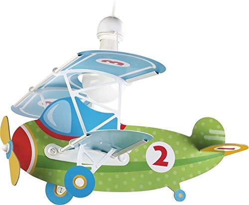 Dalber Baby Plane - Lámpara colgante Avión, color verde, E27
