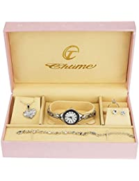 e512a2f43102 Caja de Regalo Reloj Mujer - Juegos de Joyas- Collar-Anillo- Pendientes -