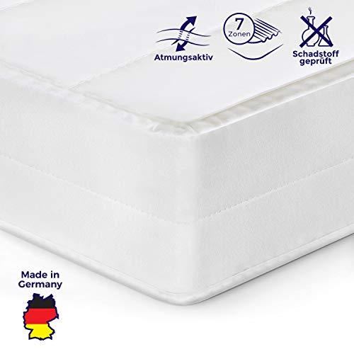 Mister Sandman orthopädische 7-Zonen-Matratze für besseren Schlaf- Kaltschaummatratze H2/H3 mit ergonomischen Liegezonen, Höhe 15cm (90x200 cm, H2)