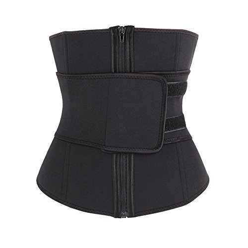 1d9a386299 Sweetlover vita Trainer corsetto neoprene workout trimmer Belt Hot Sweat  Body Shaper Cincher con cerniera in