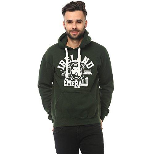 Pullover Hoodie mit Irland Emerald Isle Druck waldgrün