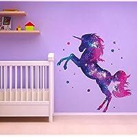 Stars Unicorn Wall Sticker Fantasy Girls Bedroom Wall Art Cute Nursary Decal