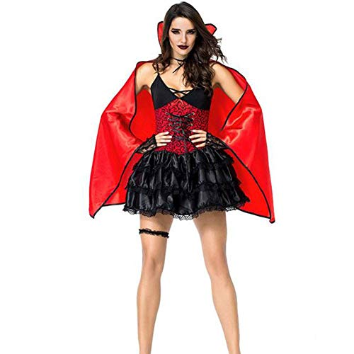 Vampir Lady Kostüm - Halloween Vampire Queen Kostüm Party Game Kostüm Ostern Fledermaus Kleid Lady Performance Kostüm