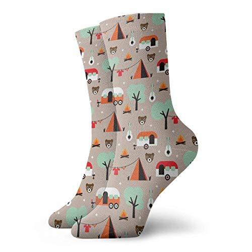 Jxrodekz Camping Kinder Abenteuer Muster Männer Frauen Neuheit Lustige Verrückte Crew Socke Gedruckt Sport Athletic Socken 30 cm Lange - Lustige Kostüm Zum Verkauf