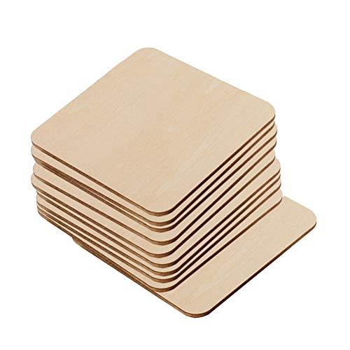 Vosarea Holzscheiben zum Bemalen und Basteln Baumscheiben Naturholzscheiben Holz Streudeko Mittelstücke für Rustikale Hochzeit Tischdeko DIY Handwerk 20 Stücke (80mm) (Für Mittelstücke Rustikale Hochzeiten)