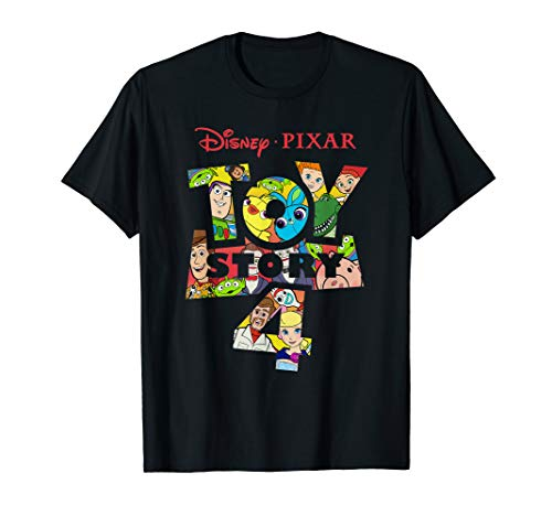 Disney Pixar Toy Story 4 Logo and Characters T-Shirt Toy Story T-shirts