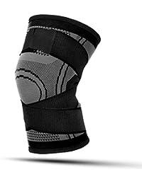 LKAIBIN Rodilleras Deportes Baloncesto Correr al aire libre Ropa protectora al aire libre Montañismo Tejer Equipo de protección @ L * 1_gris oscuro