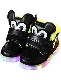 ab5a67e467e48c DULEE Unisex Kinder LED Schuhe Leuchtschuhe Blinkschuhe LED Sneaker  Sportschuhe Turnschuhe…