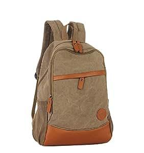 BESTOPE® Loisirs Portables Sac à Dos pour Ordinateur Portable Voyage Epaules Business School Etudiants Casual Sac (Kaki)