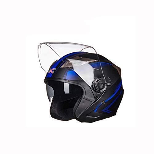 Preisvergleich Produktbild Helm,  Motorrad Elektroauto Helm Vier Jahreszeiten Universal Männer und Frauen Sicherheit Hut (Farbe : D,  größe : L)
