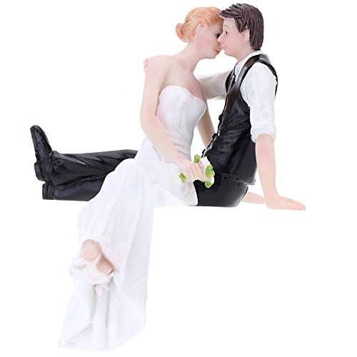 Anself cake topper decorativa sintetica resina sposa & sposo wedding matrimonio romantico