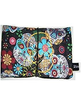 Büroteuse Tabaktasche / Drehertasche im Sugar Skull Design, jede Tasche ein Unikat!