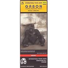 Carte routière : Gabon and Equitorial Guinea (en anglais)