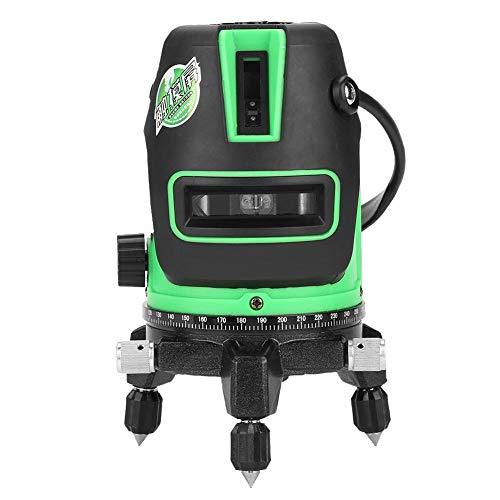 Livella Laser, Akozon Livello Laser Level Autolivellante Professionale 360 Gradi Copertura Beam Verde Linee Orizzontali Verticali e Trasversali Laser con 2 PuntatoriLaser a Piombo(2 Linea)
