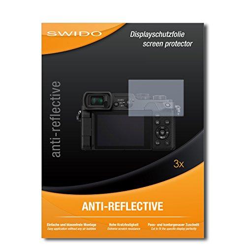 Galleria fotografica 3 x SWIDO Anti-Reflective Pellicola protettiva anti-riflesso e con rivestimento resistente per Panasonic Lumix DMC-GX8 / GX-8 - QUALITA' PREMIUM - Made in Germany