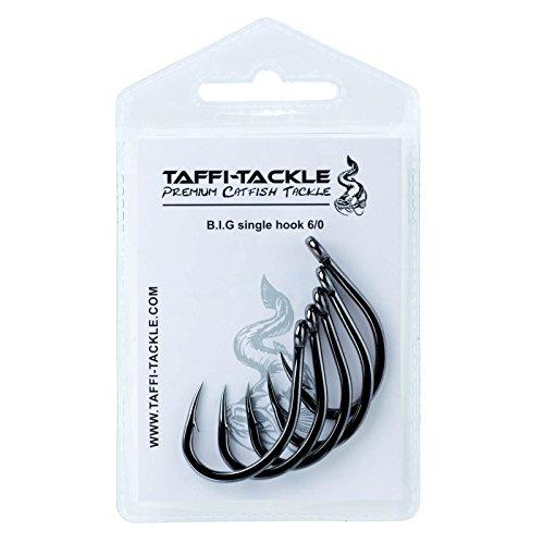 Taffi Tackle B.I.G. Single Hook Wallerhaken, Größe:6/0