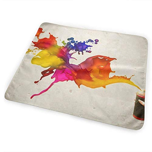 Kotdeqay Portable Changing Baby Diaper Pad, Pad Baby, Soft Urine Pads Absorbent Blanket Sheet Bed Pads Washable Change Mat for Infant Baby - Graffit Spray Paint Art(65x80cm)