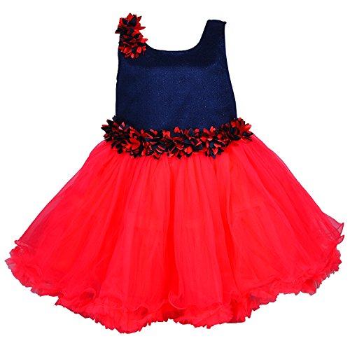 Wish Karo Baby Girls Party Wear Frock Dress DN fr1005trdnw-3-6 Mths
