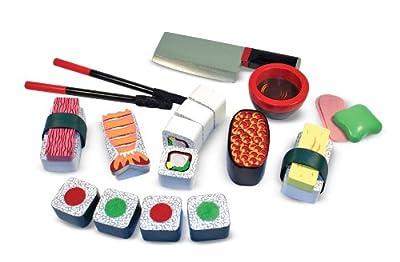 Melissa & Doug 12608 Wooden Sushi Slicing Playset