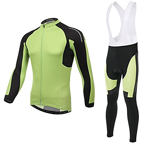 Spoz Men Cycling MTB Trend Green Gel Padded Bid Jersey Set XXL