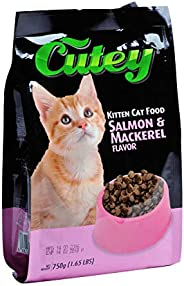 Cutey Dry Cat Food -Salmon and Mackerel , 750g
