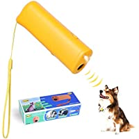 PanDaDa 3 in 1 Anti Barking Stop Bark Ultrasonic Pet Dog Repeller Training Device Trainer with LED