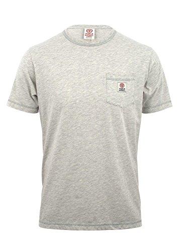 Franklin-Marshall-Mens-Jersey-Round-Neck-T-Shirt-Original-Grey-Mel