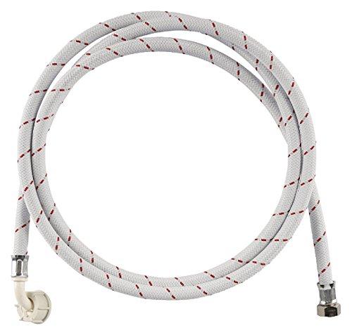 Eurosell Zulaufschlauch Nylon 3/4'' gerade - 3/4'' abgewinkelt 10 bar 90 °C 1.50 m für Waschmaschinen und Geschirrspüler -