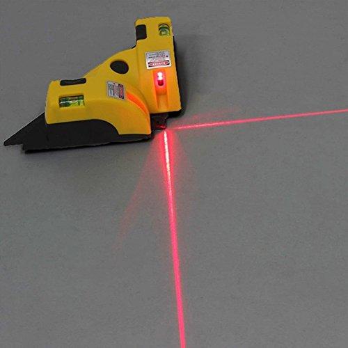 Qling - livella laser autolivellante, linea orizzontale verticale, 45 m, gamma di misurazione, livella laser con 2 ventose, ruotabile, come mostrato, taglia libera
