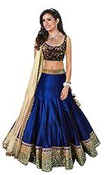 Maxthon Fashion Women's Benglory Silk Lehenga Choli (Max_lehengha_4062_Blue _Free Size)