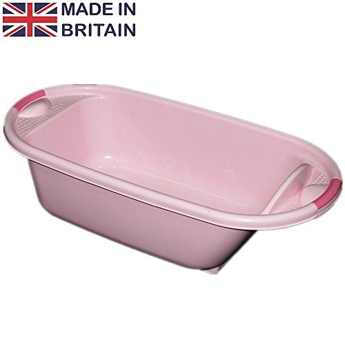 crazygadgetr-plastic-large-baby-kids-deluxe-wash-bath-tub-pink